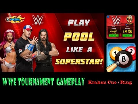 8 Ball Pool 1M WWE Special Tournament Gameplay With Kraken Cue  iOS + Ring + New WWE Cue + Commentry