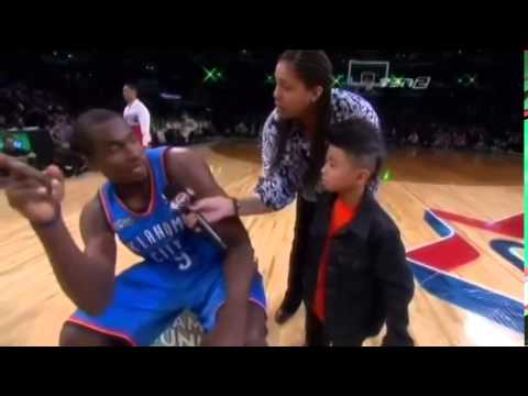 [Serious] In this dunk contest was the Kid part of the dunk or random? (I'm asking this because the lady was overly aggressive to the Kid)