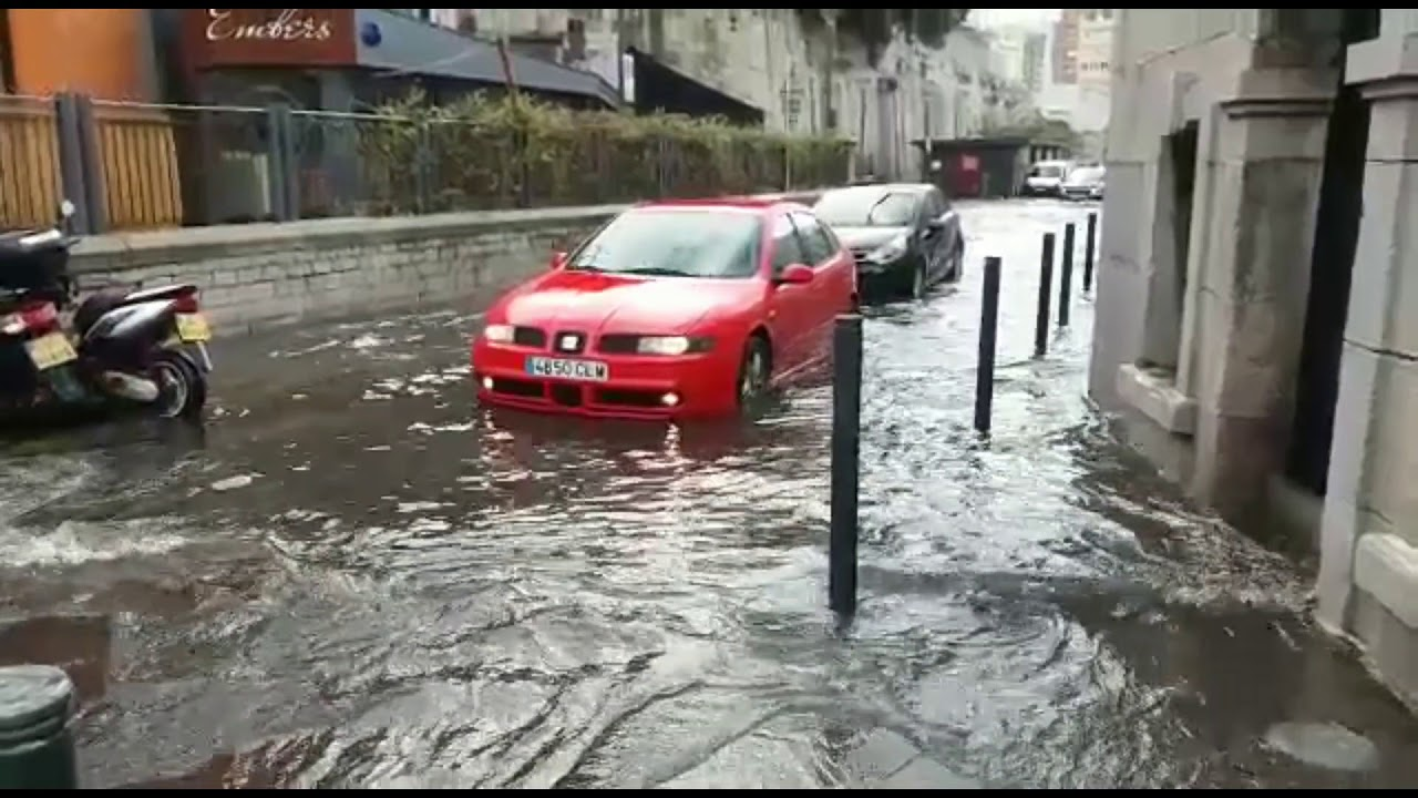 Download Flash storm floods Gibraltar's streets