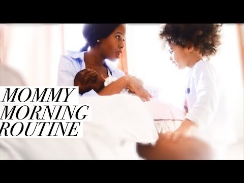 MOMMY MORNING ROUTINE WITH NEWBORN AND TODDLER||STAY AT HOME MOM