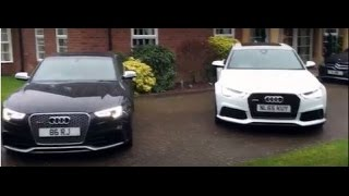 Audi RS6 vs RS5 - Full Car Review, Engine Start, Drive & Rev 2016 Cars