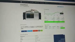 Innosilicon S11 Miner SiaMaster  Blake2B 3.83Th/S  profitablity - Reviews
