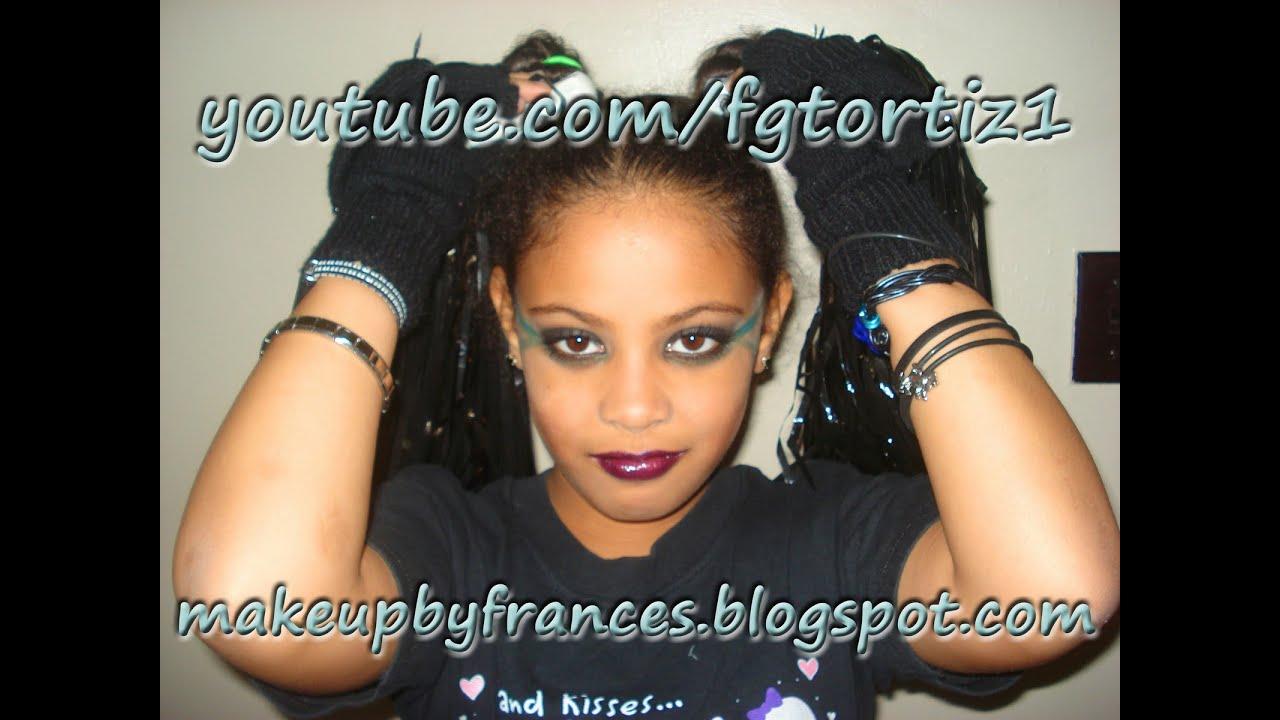 Punk cheerleader makeup tutorial for halloween english youtube punk cheerleader makeup tutorial for halloween english baditri Image collections