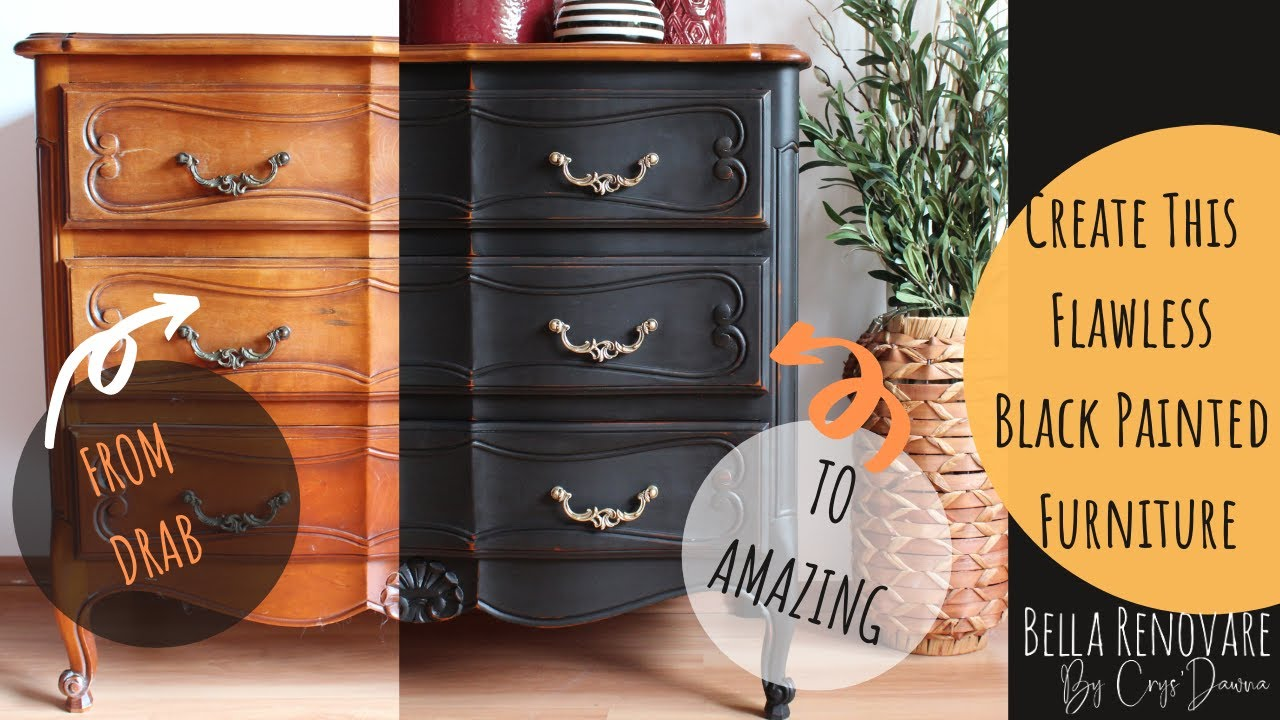 Create This Flawless Black Painted Furniture Using Mineral Chalk Paint Youtube