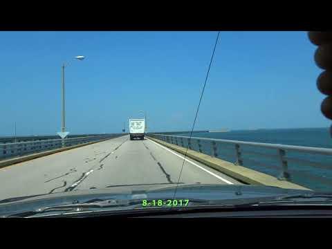Driving on The Chesapeake Bay Bridge | Real-Time| 8 -18-2017