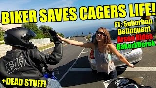 BIKER SAVES CAGERS LIFE! LOL