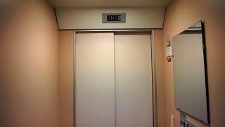 1990 DEVE holeless hydraulic elevator @ Klostergatan 45B, Linköping, Sweden