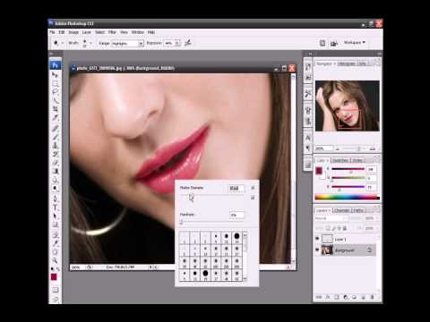 how to move the mouth in photoshop