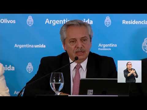 Coronavirus COVID-19 – Anuncio del presidente Alberto Fernández