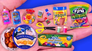23 DIY Miniature Idea~Food, Drinks and School Supplies Hacks and Crafts ~