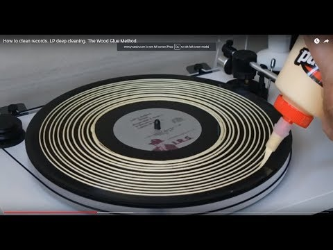 The best record cleaning method I've found without buying a machine. The wood Glue method.