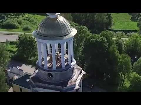 Tourist drone captures coupole having sex at church steeple