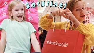 SHOPPING for AMERICAN GIRL DOLL and SURPRISING MY LITTLE SISTER! New York City Part 4