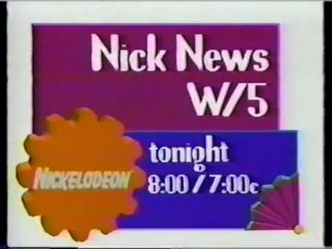 Nickelodeon Nick News W/5 1993 Promo