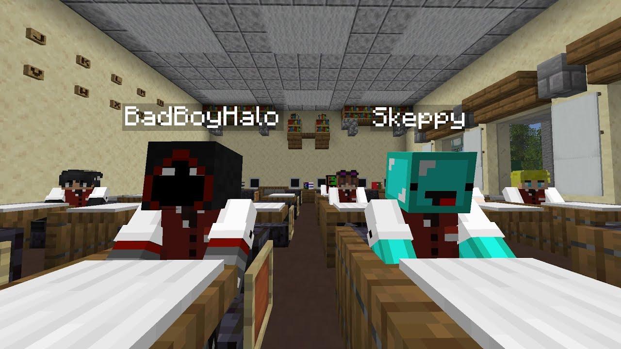 Skeppy and BadBoyHalo Go To School...