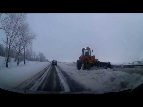 Уборка дороги Киреевск- Богородицк 👍