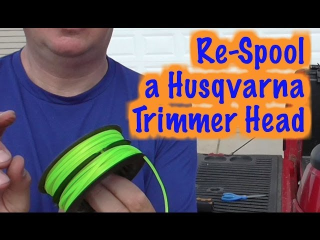 How To Respool A Husqvarna Line Trimmer Spool -T35 Head