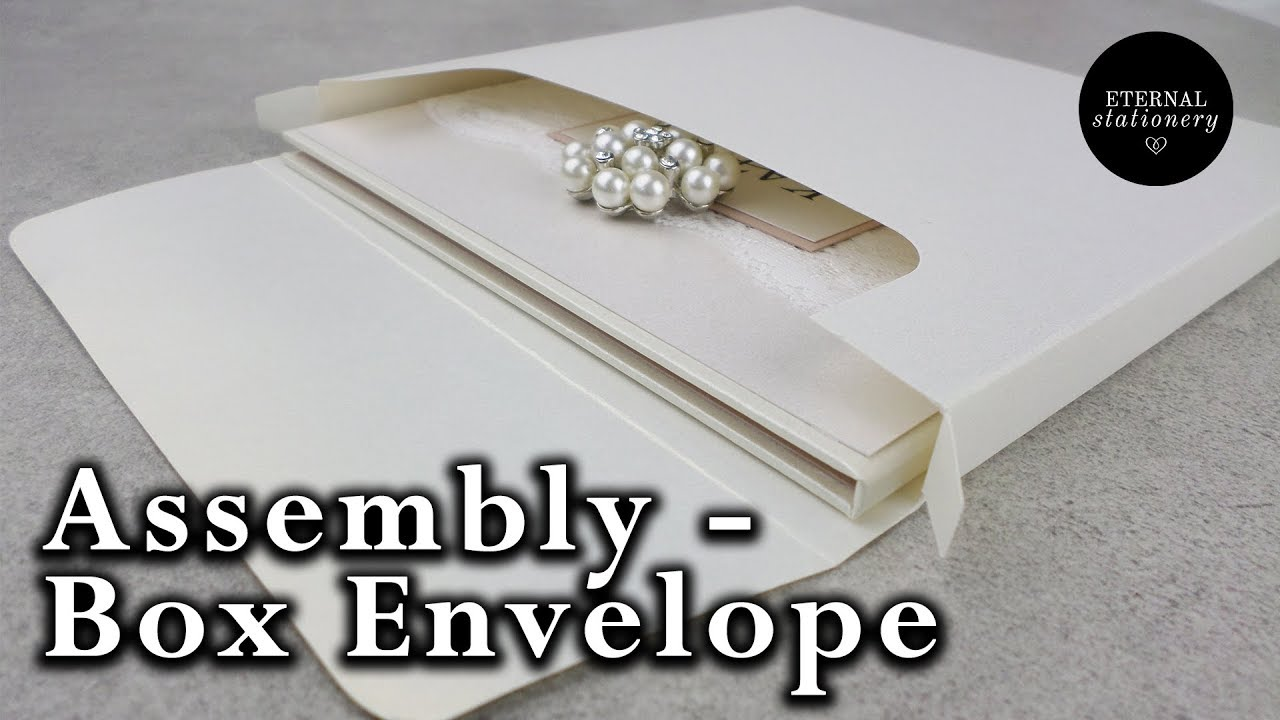 How to assemble our Invitation box envelopes - DIY Wedding ...