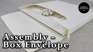 How to assemble our Invitation box envelopes - DIY Wedding Invitations | Eternal Stationery
