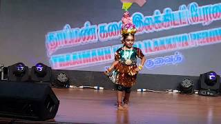 SUPER Karakattam  folk dance by 5years old girl DHANUSHREE-Kuwait