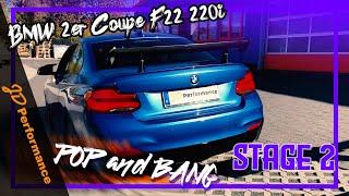 BMW 220i Stage 2 mit Downpipe und Schubabschaltung I Pop and Bang