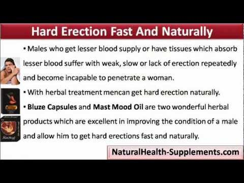 How to get a quick hard erection