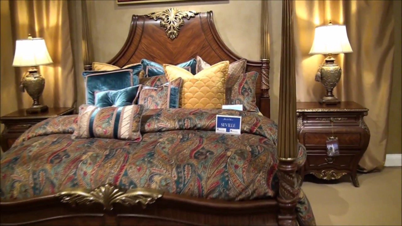 Imperial Court Poster Bedroom Set By Michael Amini Youtube