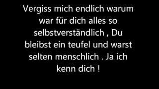 """Vergiss mich"" - Bushido Lyrics"