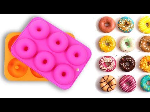 Силиконовая форма для выпечки, шоколада, мыла с Aliexpress №4 - пончики. Посылка из Китая.