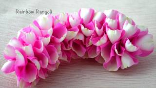 Rose Petals Garland Easy Method | Quick method to make wedding garland | Rainbow Rangoli