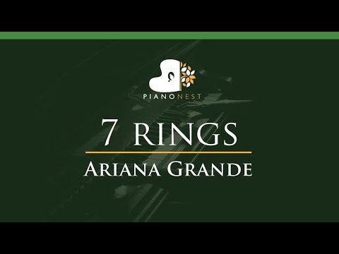 Ariana Grande - 7 Rings - LOWER Key (Piano Karaoke / Sing Along)