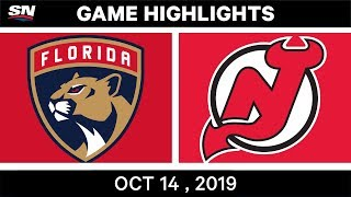 NHL Highlights | Panthers vs. Devils - Oct 14th 2019