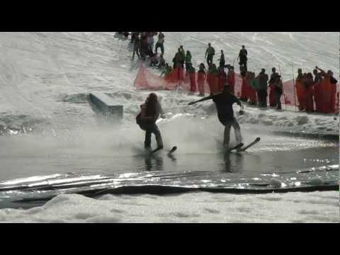 Afton Alps  2012 Downhill Ski Water-Skipping Crashes