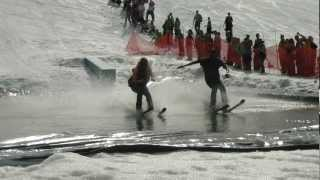 Afton Alps  2012 Downhill Ski Water-Skipping Crashes