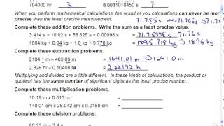 Sig Figs, Unit Conversion & Scientific Notation