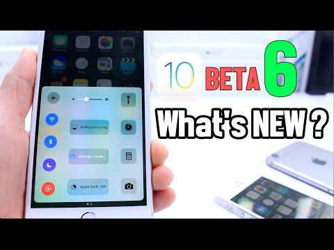 iOS 10 Beta 6 What