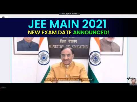 JEE Main 2021: New Exam Dates Announced by Education Minister