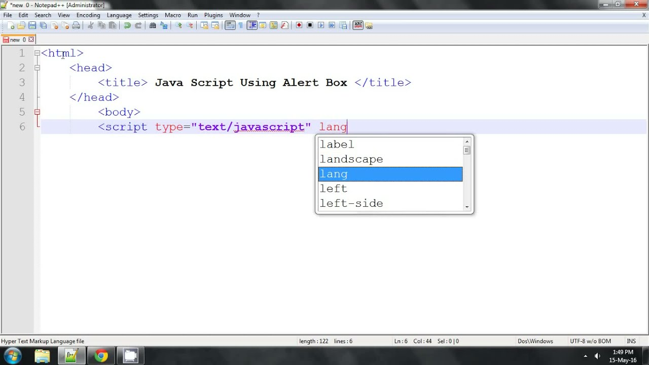 Java Script Alert