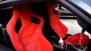 Installing bucket seats into the 370z!