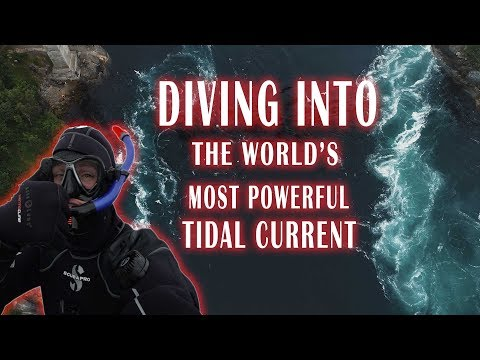 DIVING INTO THE WORLDS MOST DEADLY TIDAL CURRENT ( DANGEROUS ) - Bodo Saltstraumen