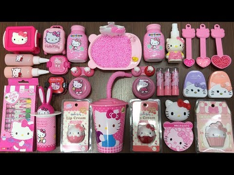 Special Series PINK Hello Kitty | Mixing Random Things Into Slime | Tep Slime