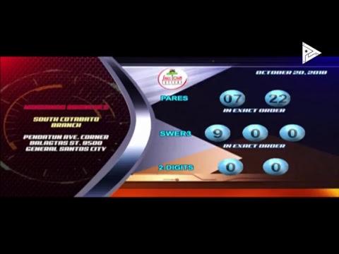 [LIVE]  PCSO Lotto Draws  -  October 20, 2018  9:00PM