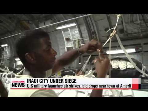 U.S. delivers humanitarian aid to civilians trapped near Amerli, Iraq   미군, 이라크