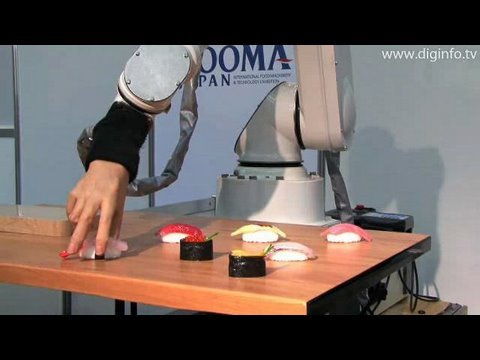 sushi robot and patisserie robot diginfo youtube. Black Bedroom Furniture Sets. Home Design Ideas