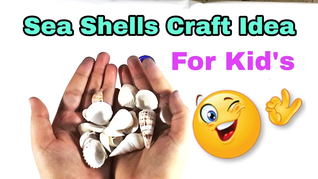 Sea Shell Crafts idea for Kid's | Shell Crafts | #DIY | Art n Creations