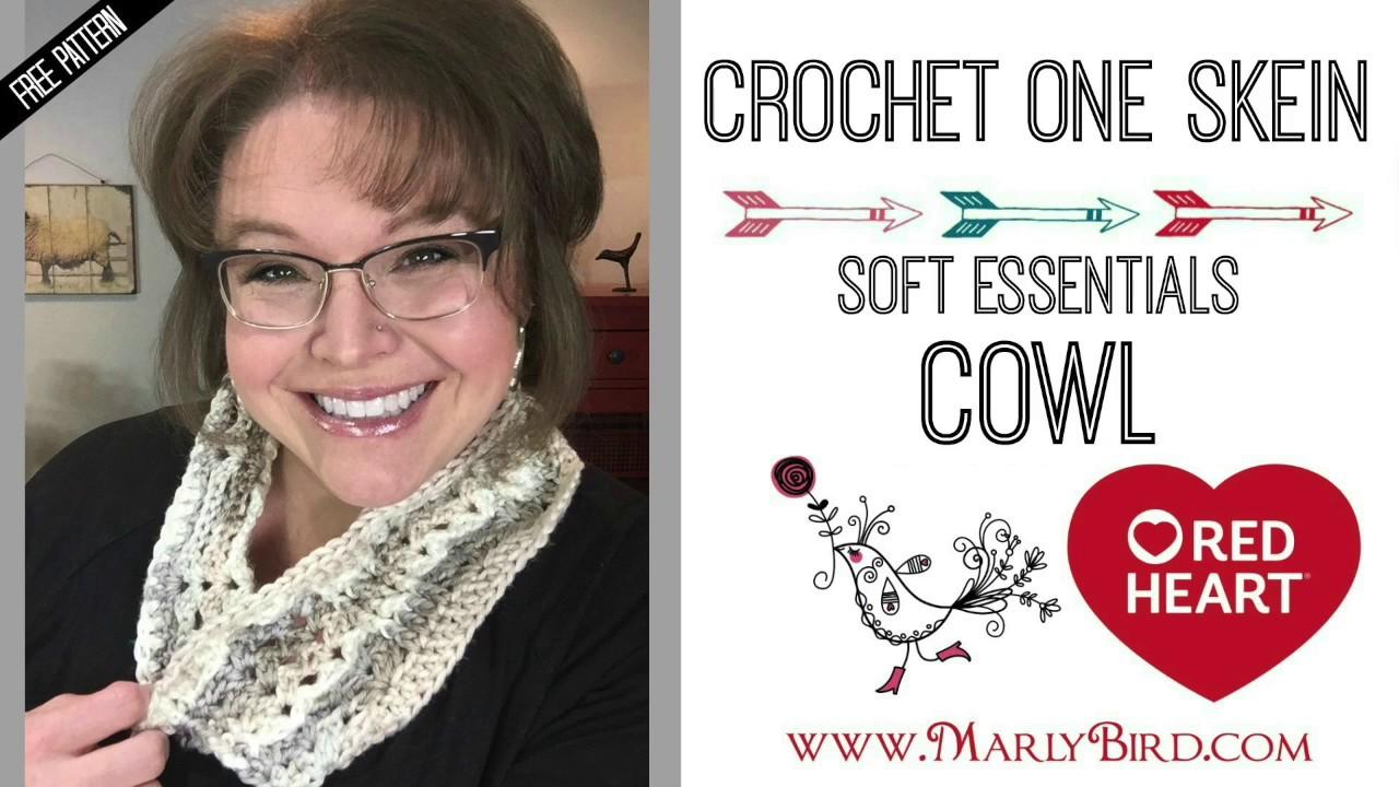 Crochet One Skein Soft Essentials Cowl - YouTube