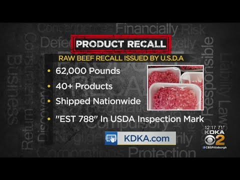 Wendy - Recall On Over 62,000 lbs Of Raw Beef Due To E. coli Risk
