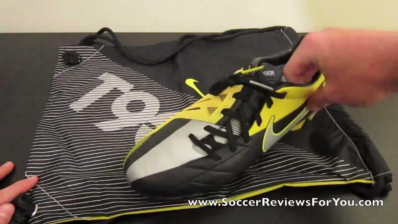 Nike T90 Laser IV Kanga-Lite Black/Metallic Luster/Tour Yellow - UNBOXING