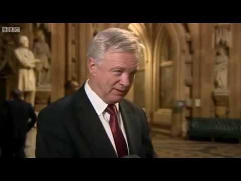 David Davis comments on the European Arrest Warrant vote on BBC News at 10