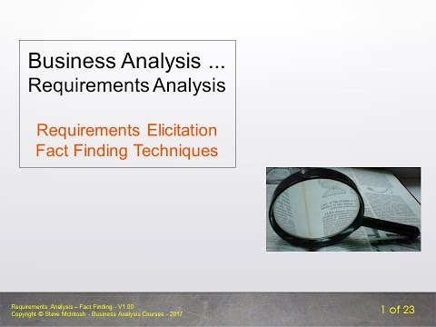 Bite Size BA - Requirements Analysis - Fact Finding